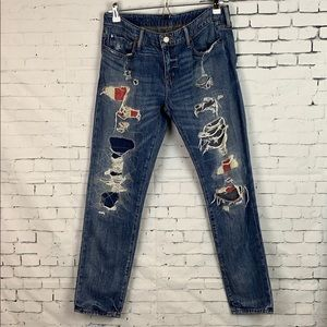 Denim & Supply Ralph Lauren Destroyed Skinny Jeans